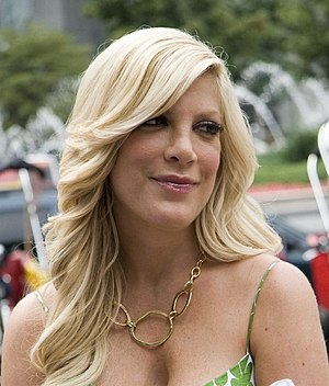 Actress Tori Spelling, during an interview