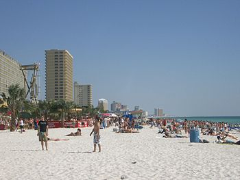 Panama City Beach, Florida, during spring break