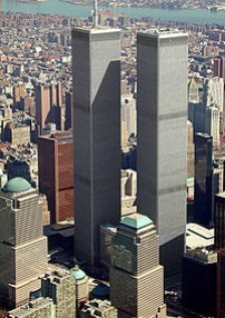 World Trade Center aerial view March 2001