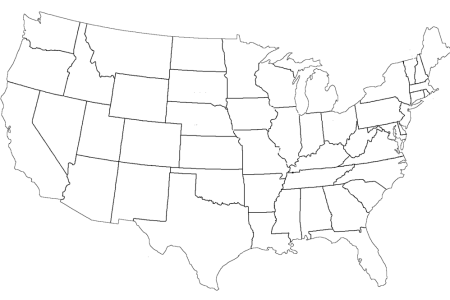 blank map of the united states of america