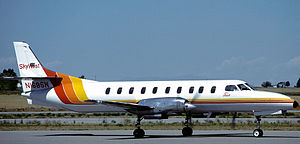 English: a SkyWest Airlines Swearingen SA-226T...
