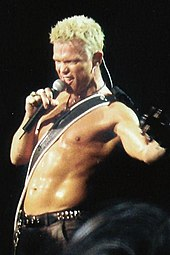 Billy Idol   Wikipedia Idol performing on stage at the Brixton Academy in London  2005