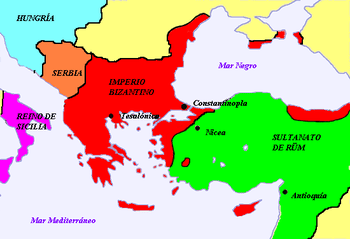 English: Byzantine empire after the battle of ...