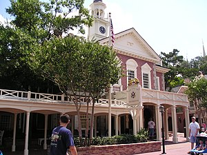 The exterior of the Hall of Presidents ride of...