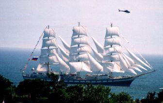 High-masted, altitudinous sailing vessel