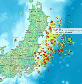 589px Map of Sendai Earthquake 2011 Japans Earthquake Shakes Up Life in Ohio