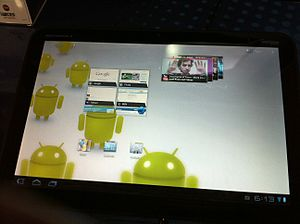 English: motorola xoom tablet
