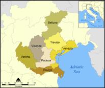 Provinces of the Italian region of Veneto