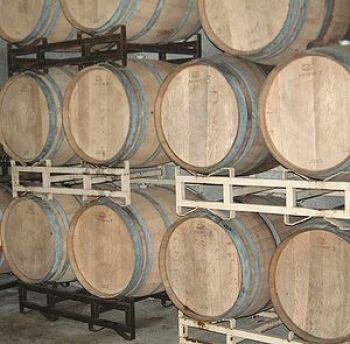 English: Barrels of 2007 Zinfandel wine fermen...