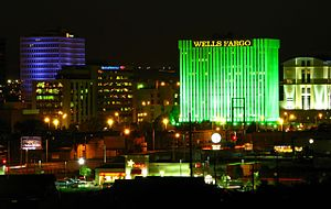 Downtown Albuquerque, NM, just after sunset. F...