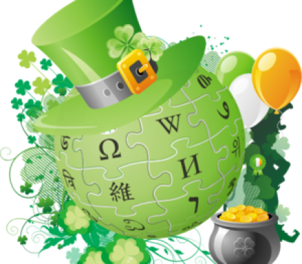 English: Wikipedia Saint Patrick's Day