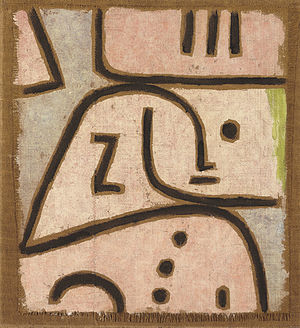 WI (In Memoriam). Signed 'Klee' (upper left); ...