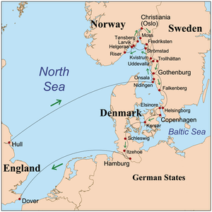 map sweden denmark