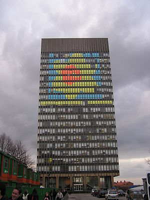 The Arts Tower, on the University of Sheffield...