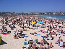 Beach   Wikipedia Bondi Beach  a popular beach area in Sydney  Australia