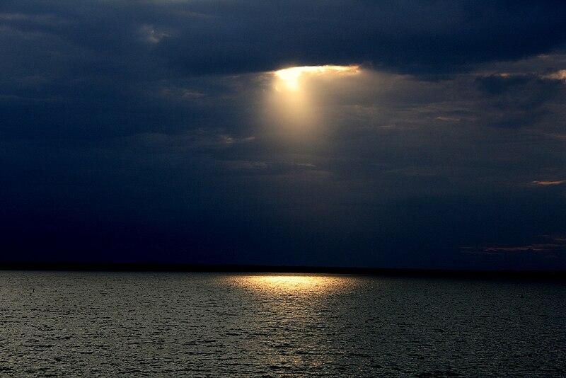 File:Sunset on osman sagar lake hyderabad.JPG