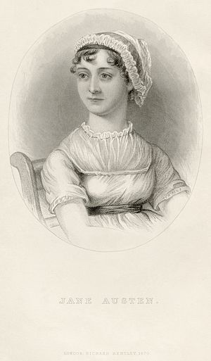 Portrait of Jane Austen, from the memoir by J....