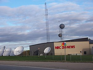 The satellites and towers at WGBA-TV studios i...