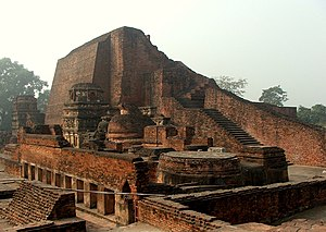 Main stupa of Sariputta in the ancient Nalanda...