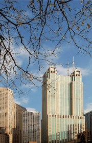Skyscraper in Chicago, N. Michigan Avenue