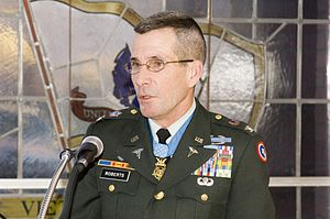 English: Medal of Honor recipient Colonel Gord...