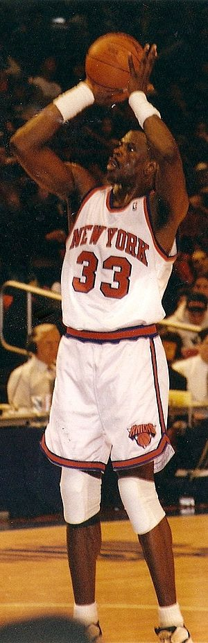 Professional basketball player Patrick Ewing