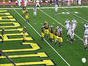 English: 2010 Michigan Wolverines football tea...
