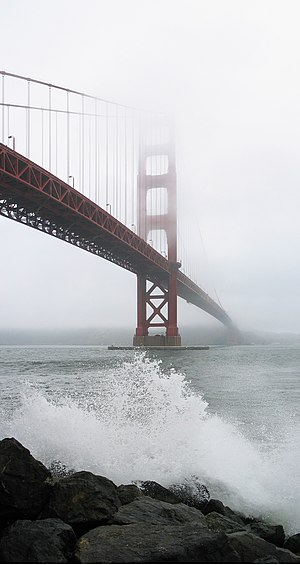 The Golden Gate Bridge as seen from Fort Point...