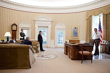 President Barack Obama holds a conference call...