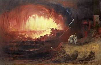 The Destruction Of Sodom And Gomorrah, a paint...