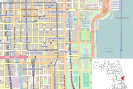 template location map united states chicago loop