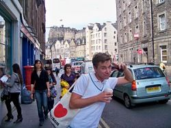 English: Me on the streets of Edinburgh, Scotl...