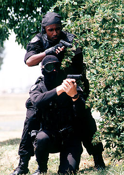 Members of the 60th Security Police Squadron's Base Swat Team