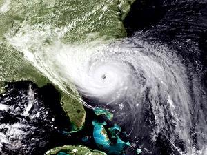 Hurricane Hugo is shown the day before landfal...