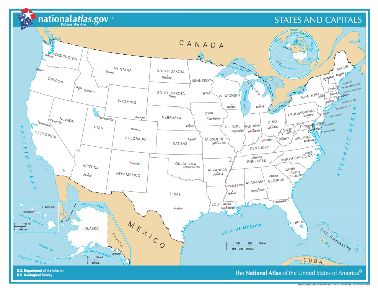 A Free United States Map Us Map States Capitals Colorful Usa Map