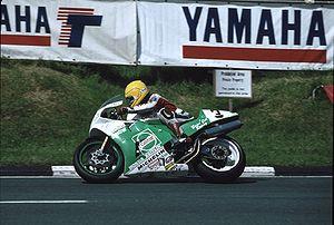 Joey Dunlop on his Honda RC30 at Creg-ny-Baa )}