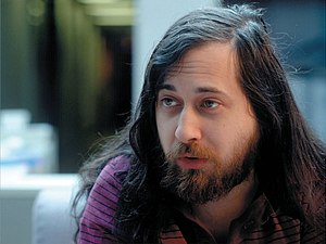 An image of Richard Matthew Stallman taken fro...