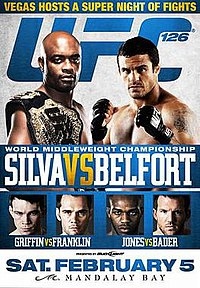 A poster or logo for UFC 126: Silva vs. Belfort.