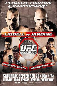 A poster or logo for UFC 76: Knockout.