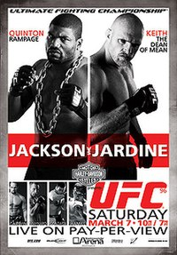 A poster or logo for UFC 96: Jackson vs. Jardine.