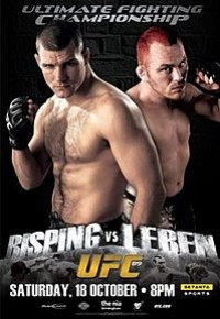 A poster or logo for UFC 89: Bisping vs. Leben.