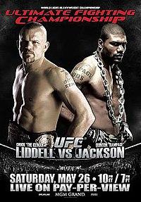 A poster or logo for UFC 71: Liddell vs. Jackson.
