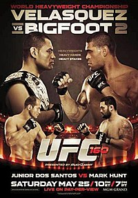 A poster or logo for UFC 160: Velasquez vs. Bigfoot 2.
