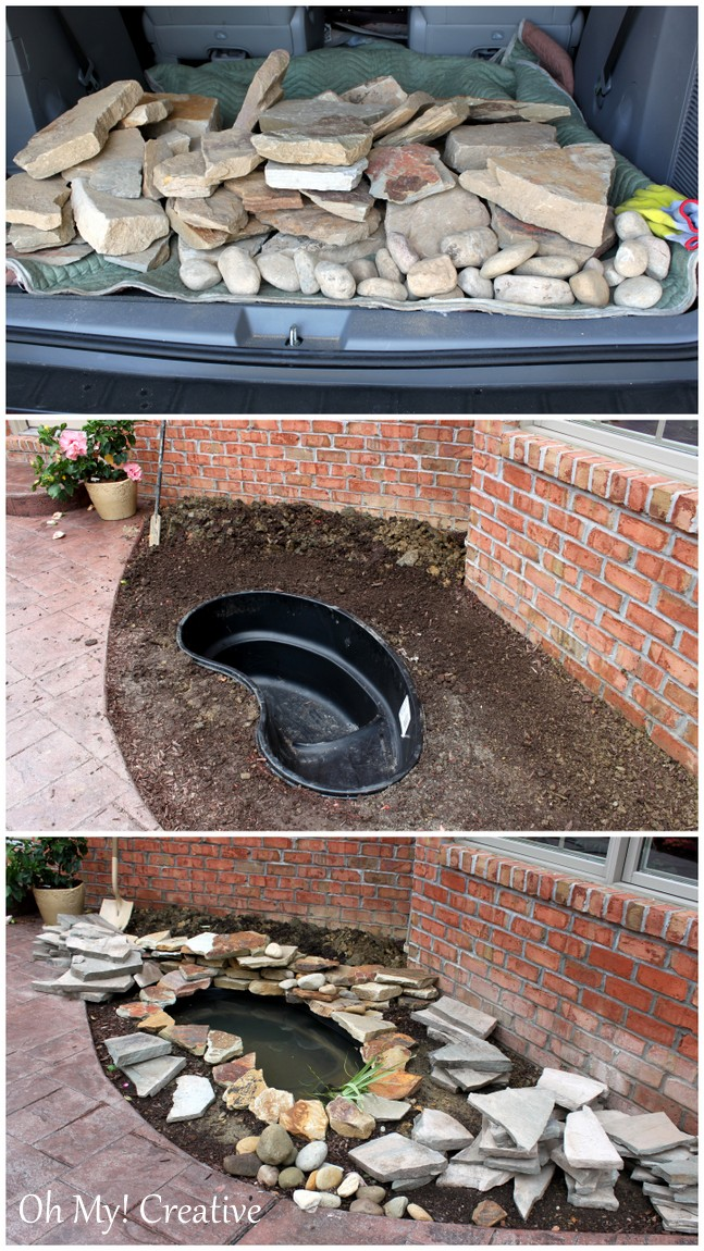 Diy Backyard Pond Landscape Water Feature Urban