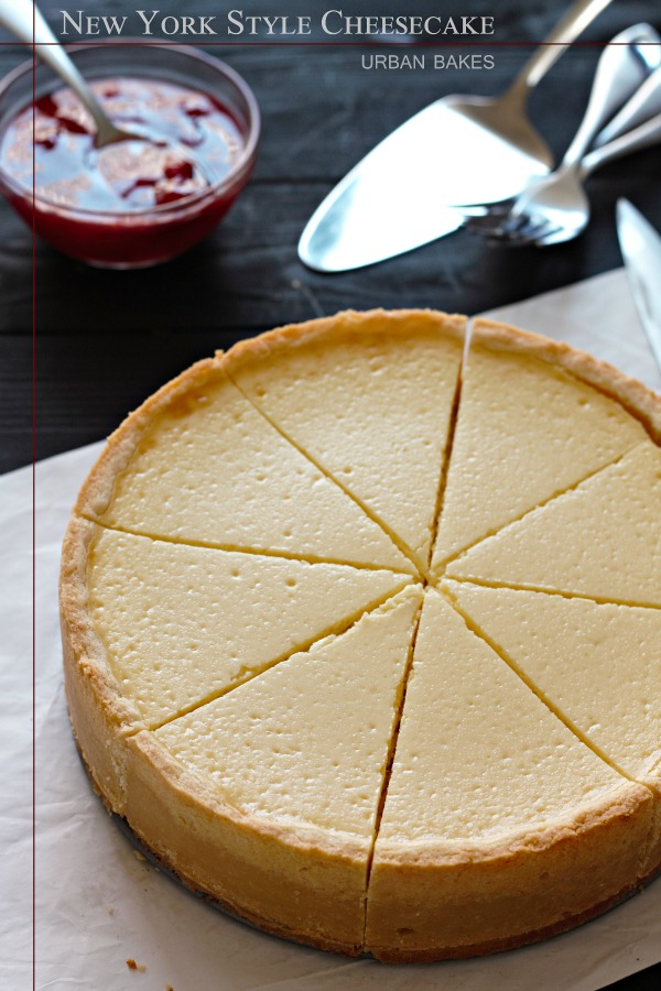 Classic New York Style Cheesecake with Strawberry Topping   URBAN BAKES