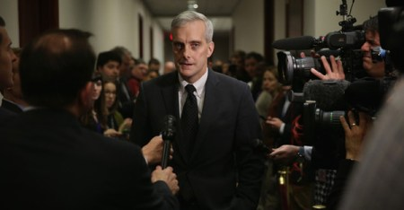 White House Chief of Staff Denis McDonough arrives at a House Democratic Caucus meeting December 11, 2014 on Capitol Hill in Washington, DC. (Alex Wong/Getty Images North America)