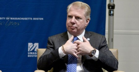PHOTO: Seattle Mayor Ed Murray speaks at Municipal Strategies for Financial Empowerment, a public forum hosted by Boston Mayor Martin J. Walsh at UMass Campus Center on March 22, 2015 in Boston. (PHOTO CREDIT: Paul Marotta/Getty Images)