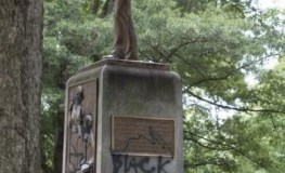 Confederate Statue at UNC Chapel Hill Spray-painted with 'Black Lives Matter', 'KKK' and 'Murderer'