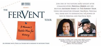 Brother and Sister Duo Priscilla Shirer, Anthony Evans Join Together for the Fervent Tour In February 2016
