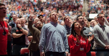 The audience at last month's Together for the Gospel conference in Louisville, Ky. (Sarah Mesa Photography)